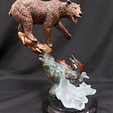 Numbered Kitty Cantrell Bronze Sculpture - SALMON SUPPER